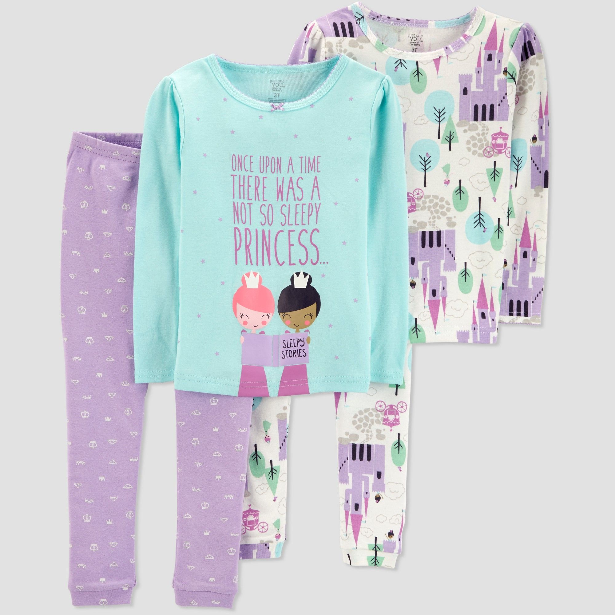 7b77411ce07c Baby Girls  4pc Princess Pajama Set - Just One You made by carter s ...