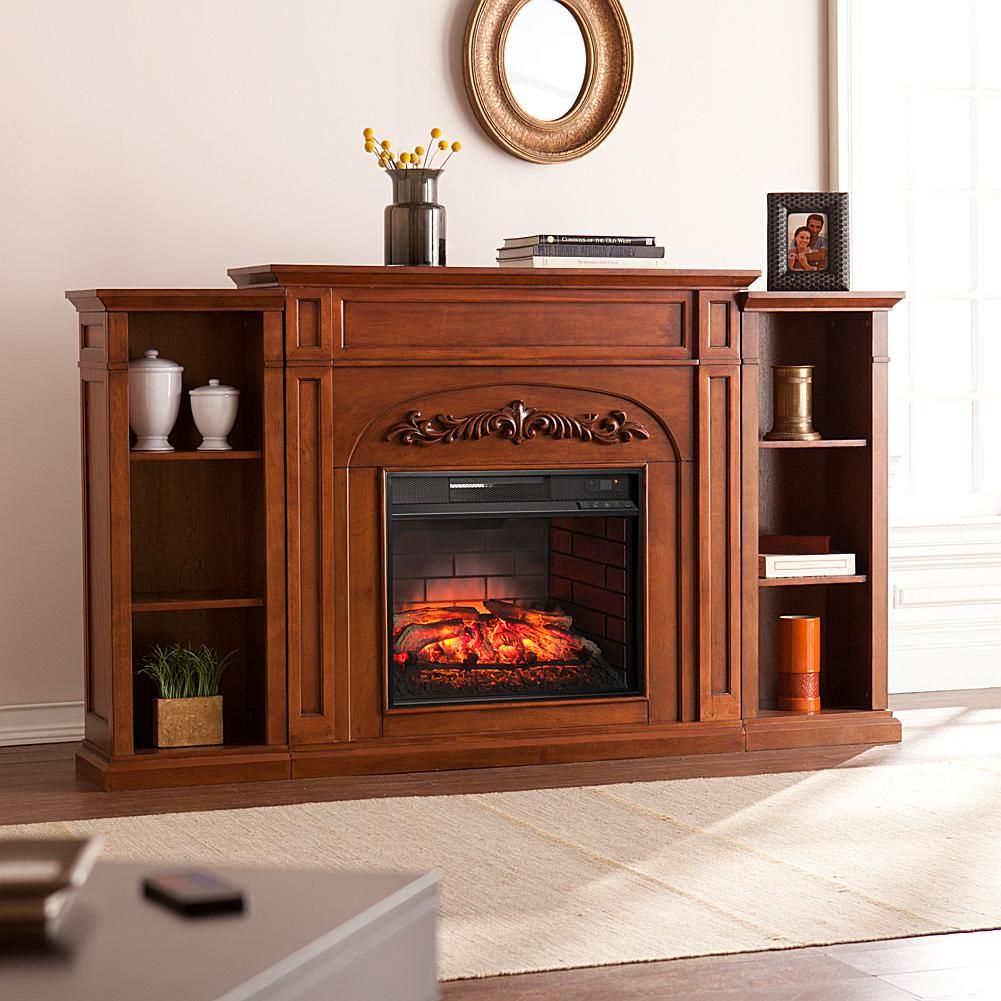 Home Marketplace Chantilly Bookcase Infrared Electric Fireplace