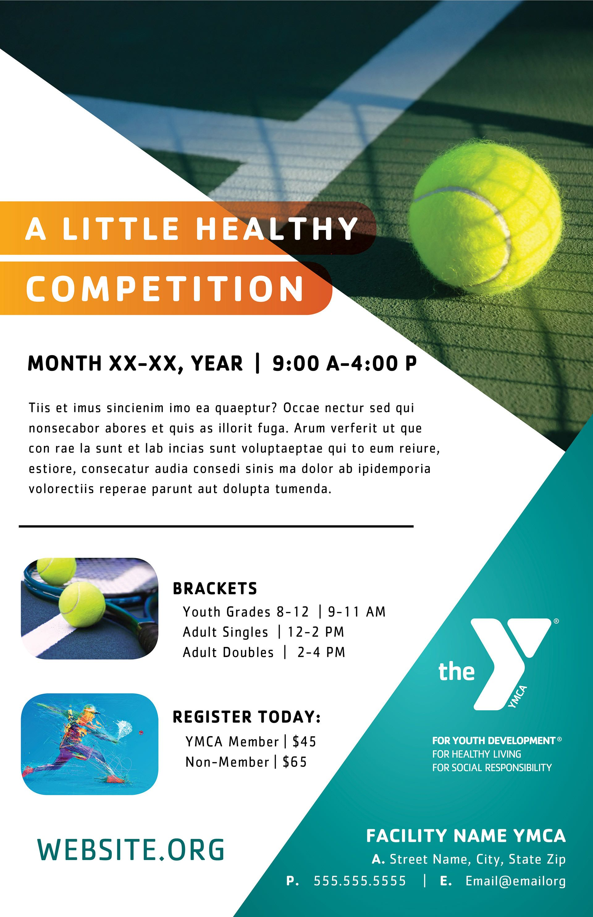 Layout Concept Ymcas Offer A Wide Range Of Programs Tennis Ymcatennis Ymca Healthyliving Fitnessfun Healthandwell Ymca Youth Programs Marketing Poster