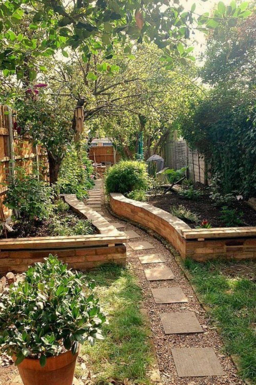Looking Between The Beds Vegetable Garden Pathways 400 x 300