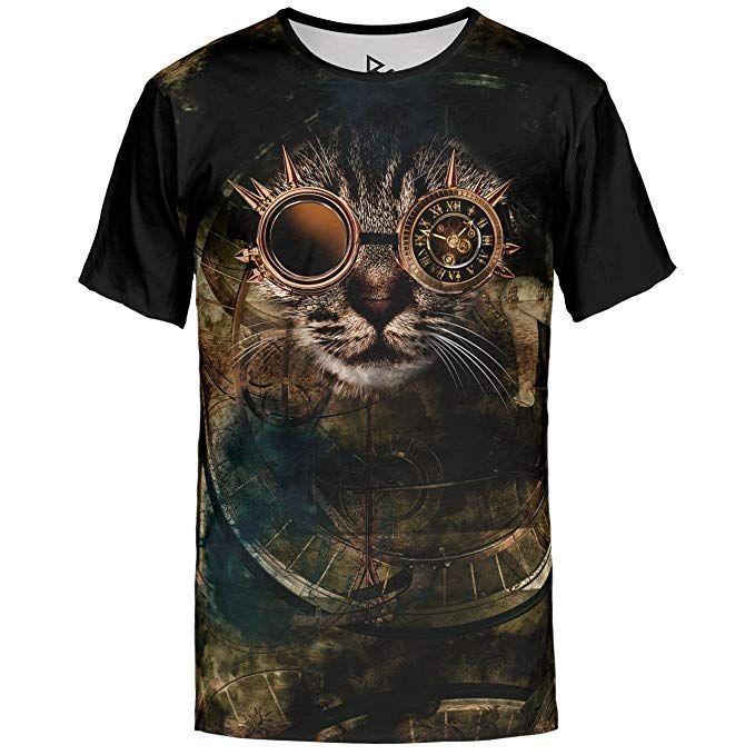 Blowhammer T-Shirt Herren - Steam Cat. Cooles Shirt für Steampunk Fans.  Gedruckte a1b4b7858b