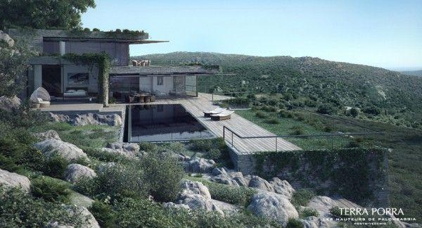 Corsican Mountain View Villas Visualized Maison Moderne Villa
