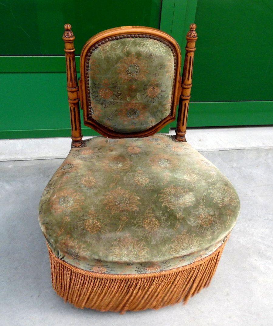 Piccola sedia da camino napoleone iii in faggio fine 39 800 for Sedie fenice design