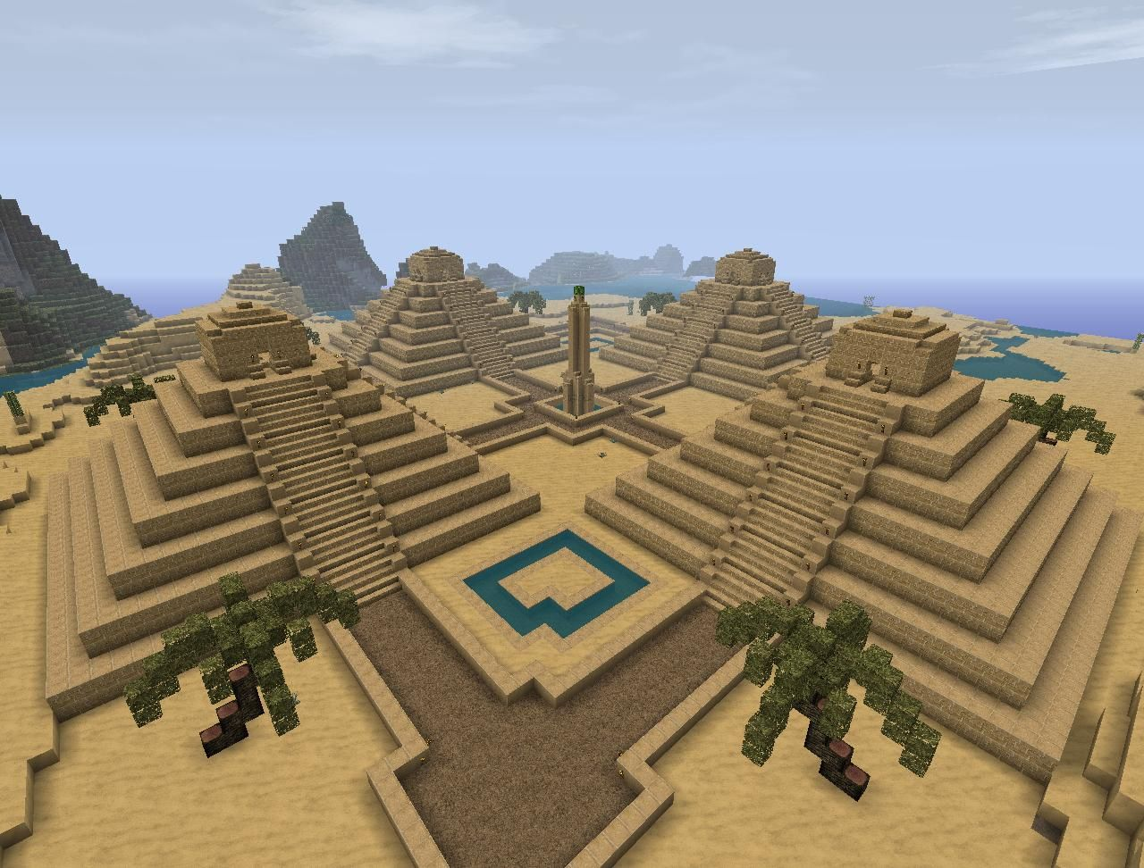 Minecraft Ancient Egypt Pyramid