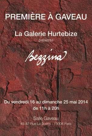 Bezzina Galerie Hurtebize Salle Gaveau 45-47 rue de la Boétie, Paris 8° Début : 16/05/2014 Fin : 25/05/2014 Website : www.hurtebize.net