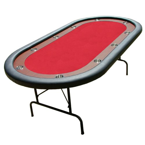 Red Felt Poker Chip Table With Dark Wooden Race Track Poker Table Diy Poker Table Poker Table Top