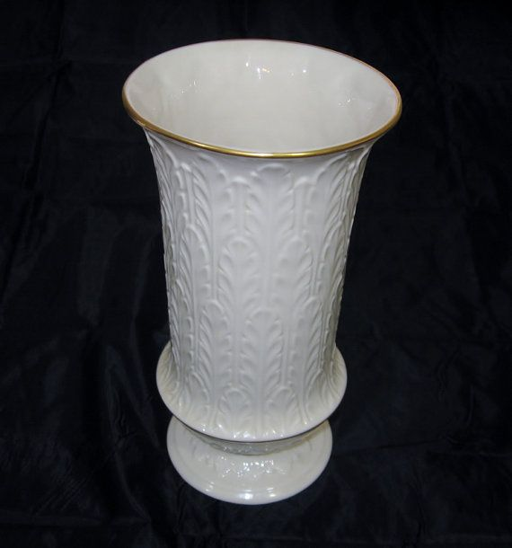 Vintage Lenox Vase Autumn Leaf Pattern Tall China And Porcelain