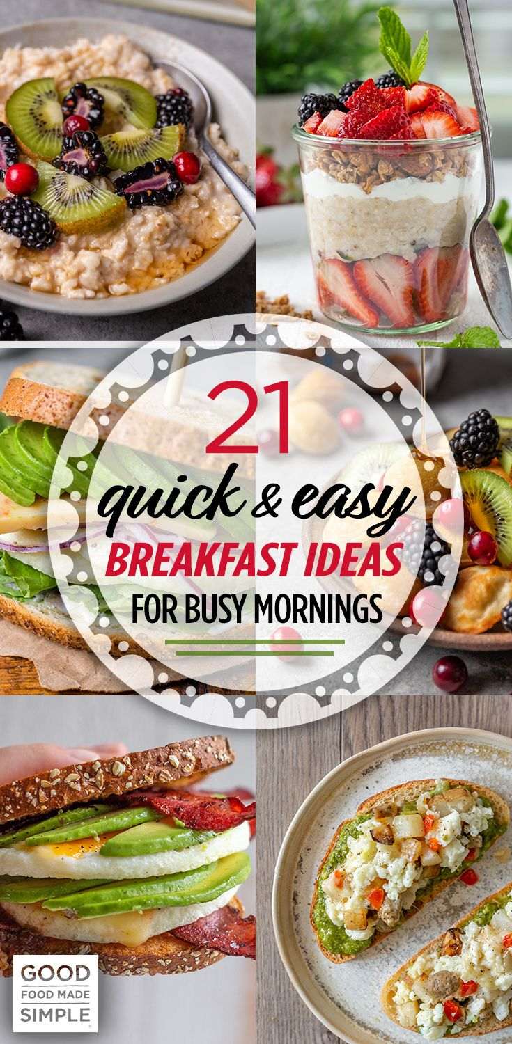 21 Quick & Easy Breakfast Ideas For Busy Mornings images