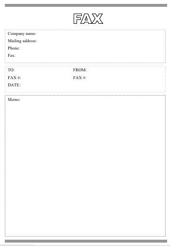 This Printable Fax Cover Sheet Is Very Basic With The Word Fax In