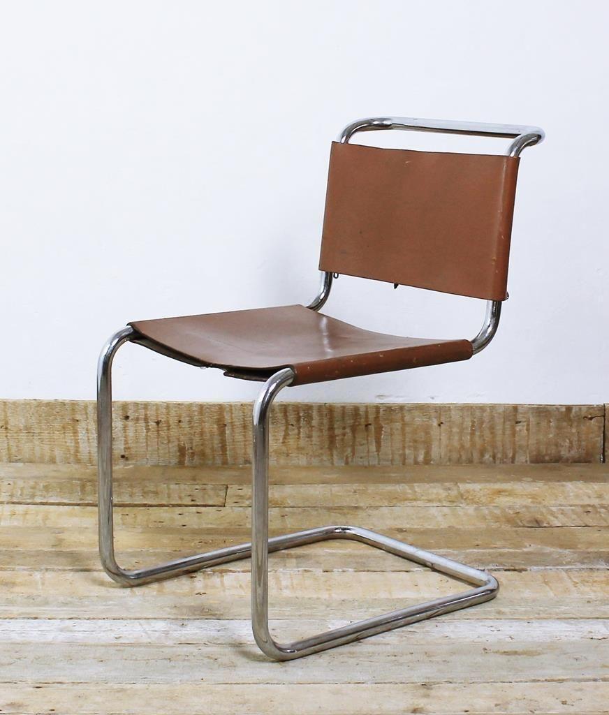Bauhaus chair breuer - Gavina Edition Of Bauhaus Icon Breuer Marcell B33 1927 Cantilever Leather Chair Ebay