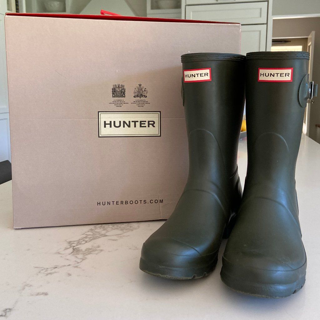 Womens Olive Green Hunter Boots Size 9 Us Hunter Boots Green Hunter Boots Boots