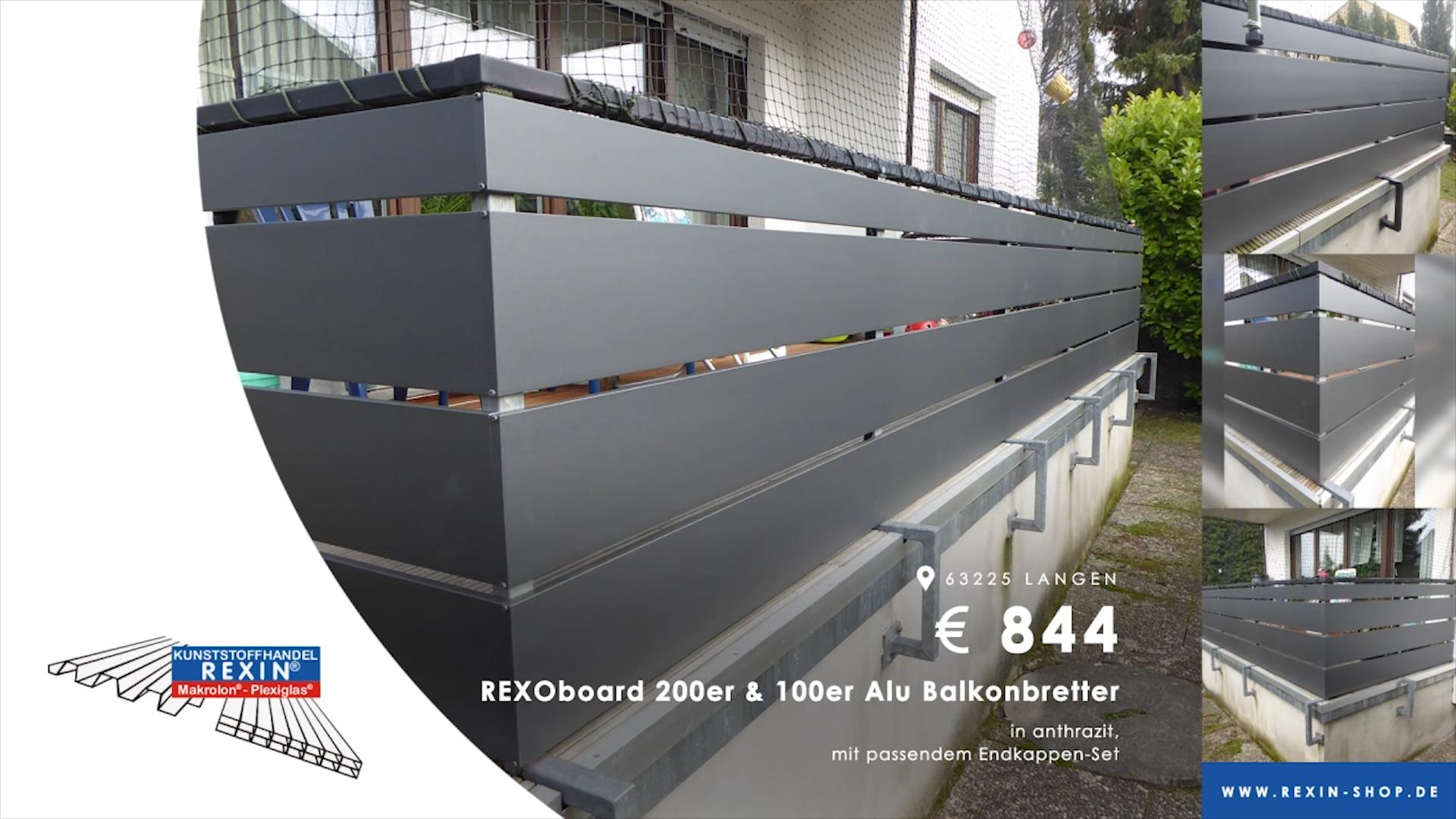 Top! Balkonbretter aus Aluminium. (Kundenbilder KW 26/2019)
