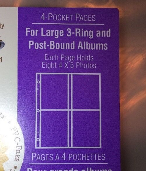 Hallmark AR6071 4 Pocket Refill Pages Large Post Bound 3 Ring Photo Album New  | eBay