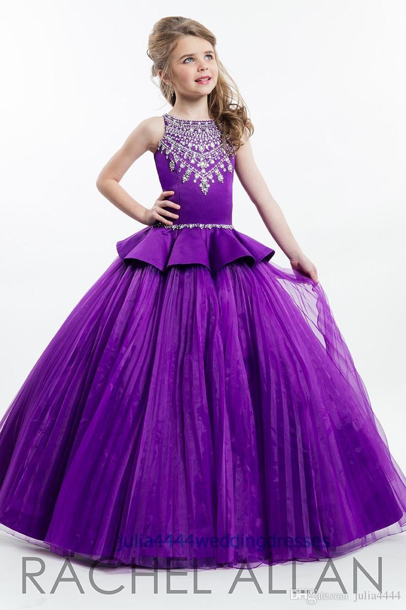 Little girlus pageant dresses kids formal wear flower ball