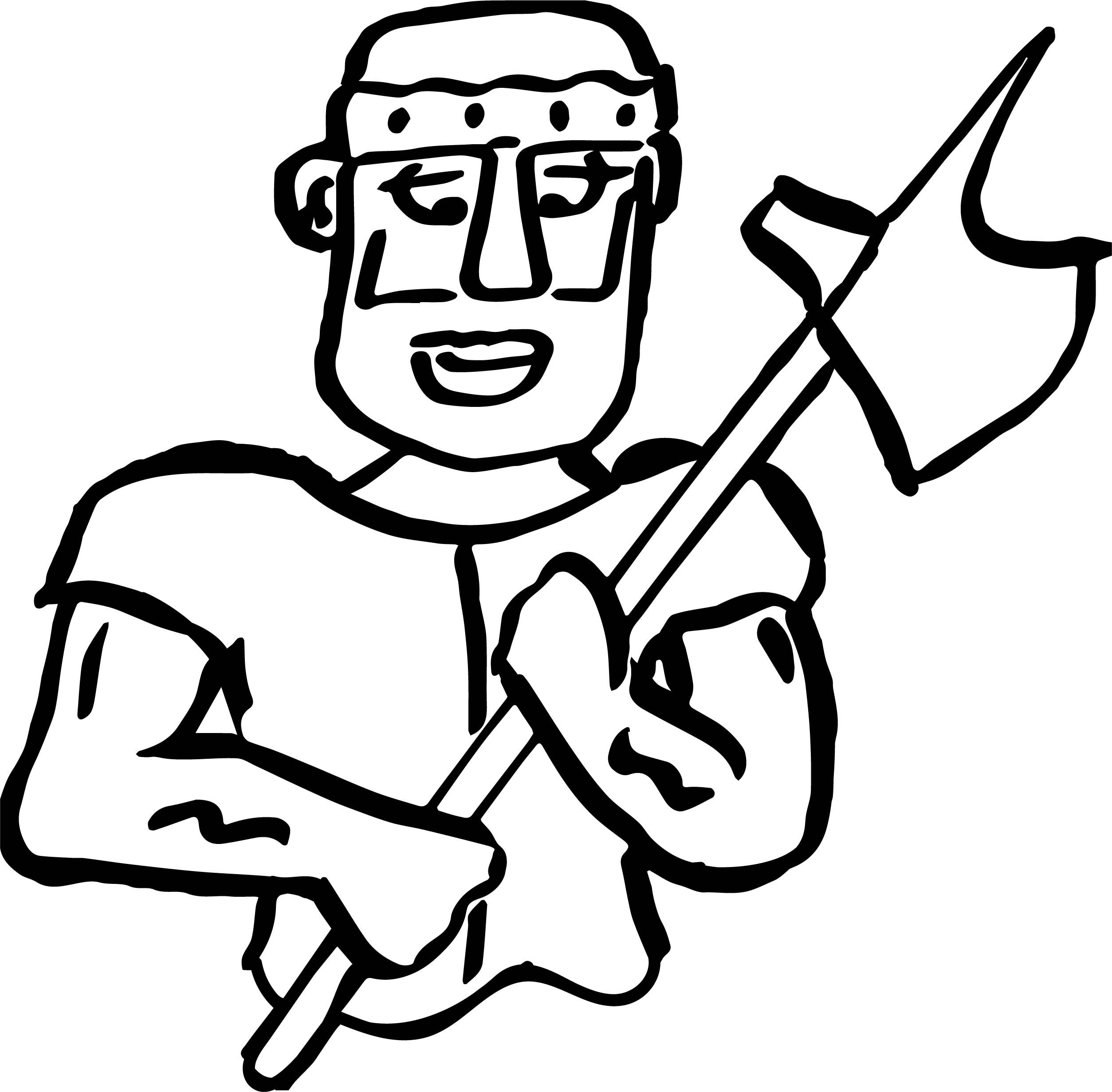 Cool Roman Soldier Axe Coloring Page Coloring Pages Coloring