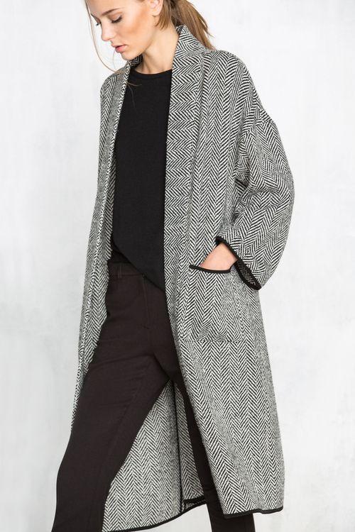 En Espiga Coat Mujer Abrigo Cortefiel Largo Abrigos De Outfits qXwUR8x