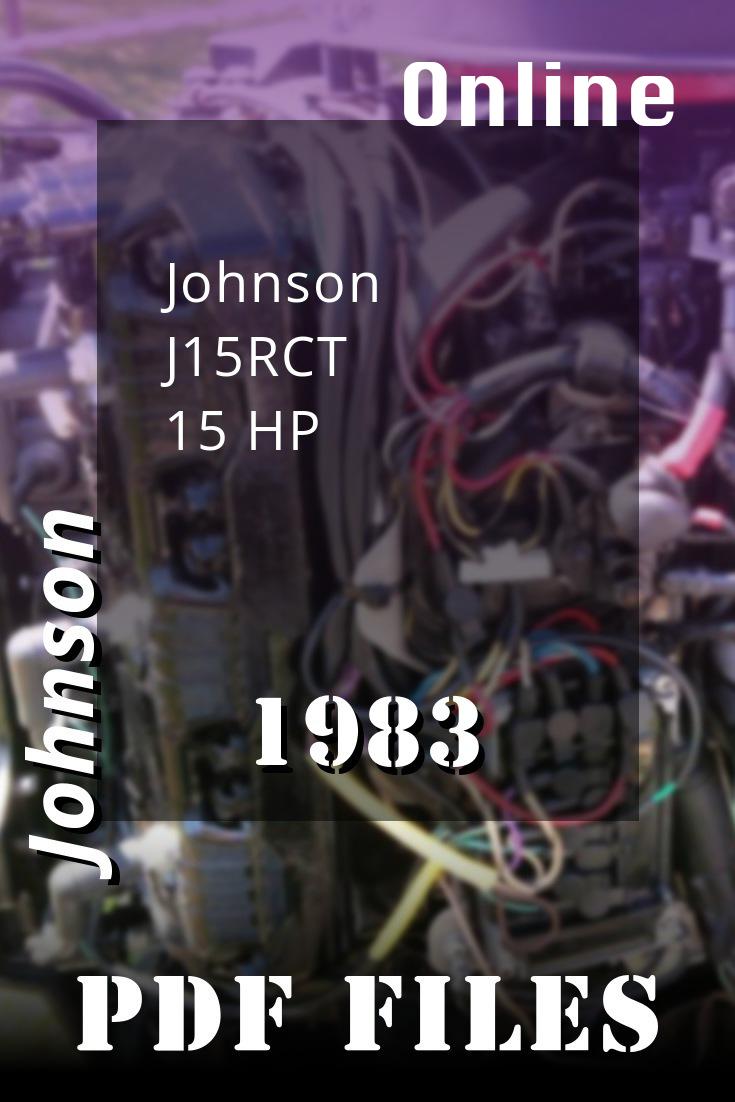 1983 J15rct Johnson 15hp Outboard Motor Service Manual Repair Johnson Repair Manuals