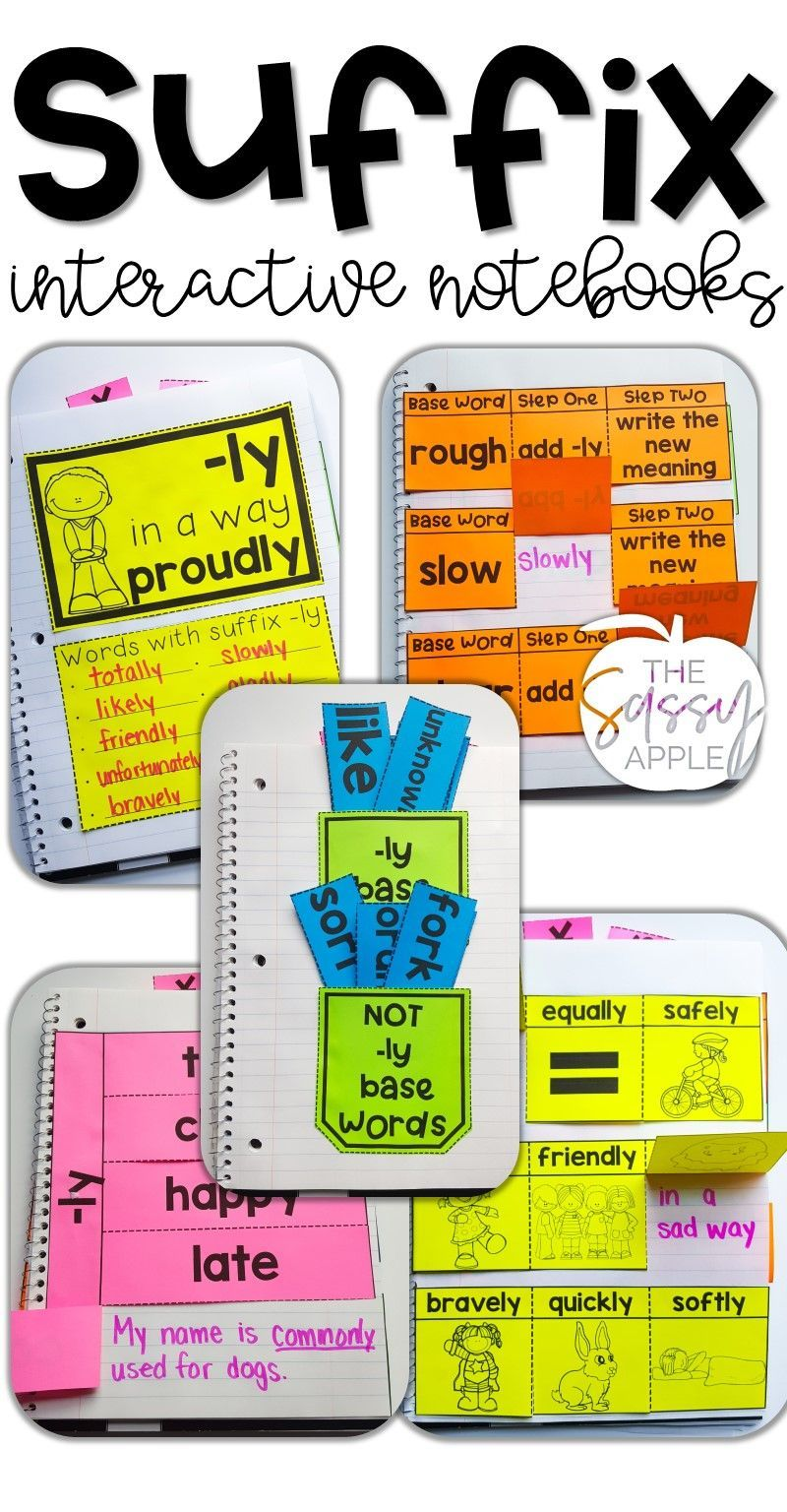 Suffix Interactive Notebook Activities Ly 5 Engaging Activities Interactive Notebooks Word Work Third Grade Interactive Notebook Activities