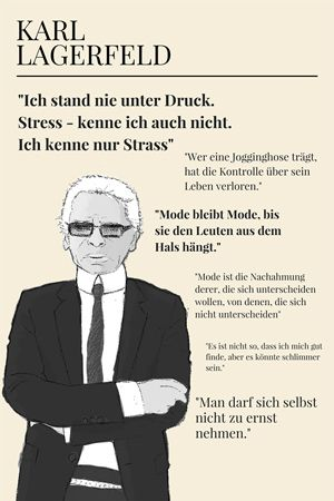 Karl Lagerfeld Quotes Zitate | #lagerfeldquotes | Karl lagerfeld