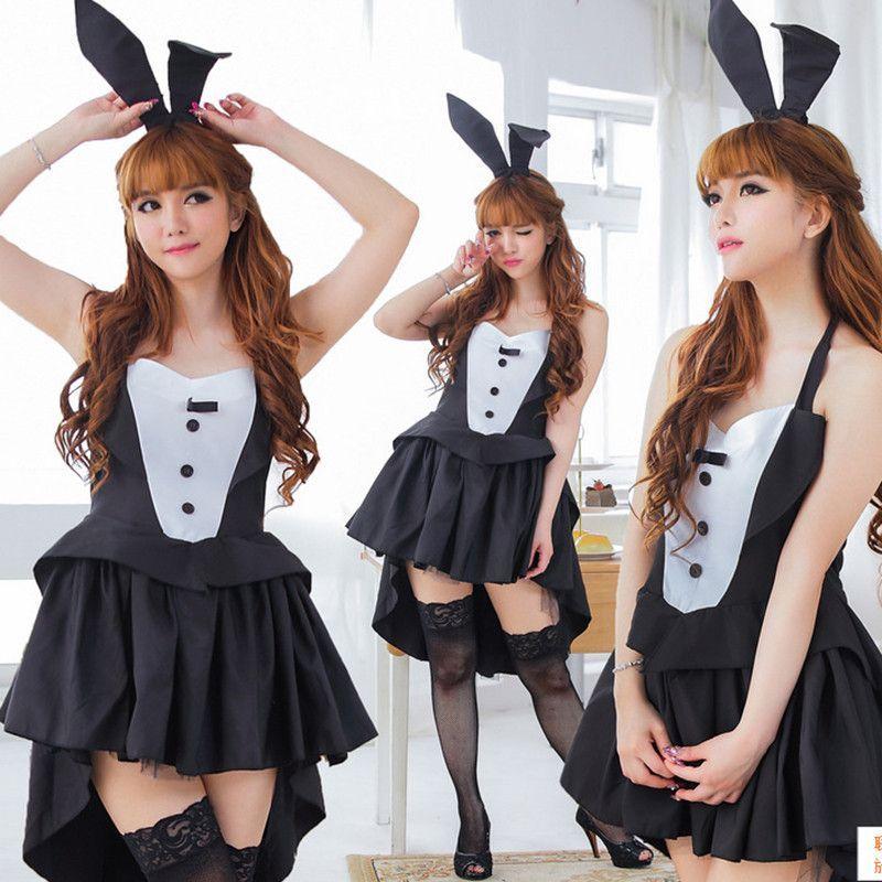 Bunny Girl Rabbit Costumes Women Cosplay Halloween Adult Animal - halloween girl costume ideas