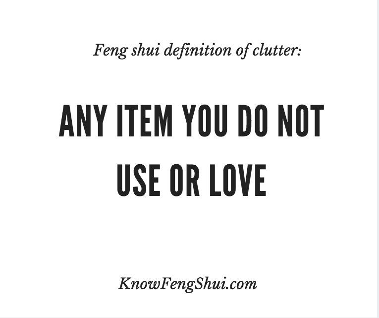 A Simple Feng Shui Definition Of Clutter Manifesting