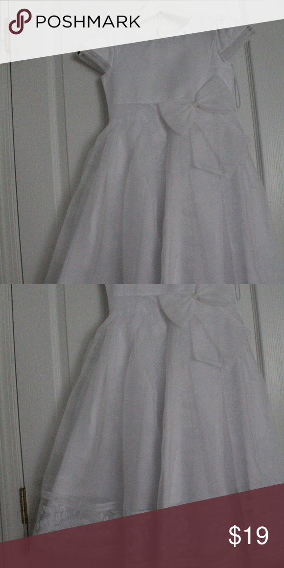 145552a1ef31 Tip Top Kids First Communion Dress 5605 White Tip Top Kids First Communion  Dress 5605 White Size 7 This is a bridal store sample - never removed from  ...