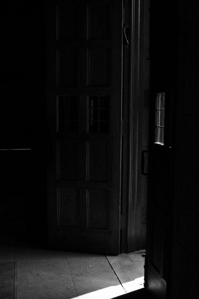 Open door dark Metal Door Darkness And Open Door Pinterest Darkness And Open Door Mystery Black White Photography Dark
