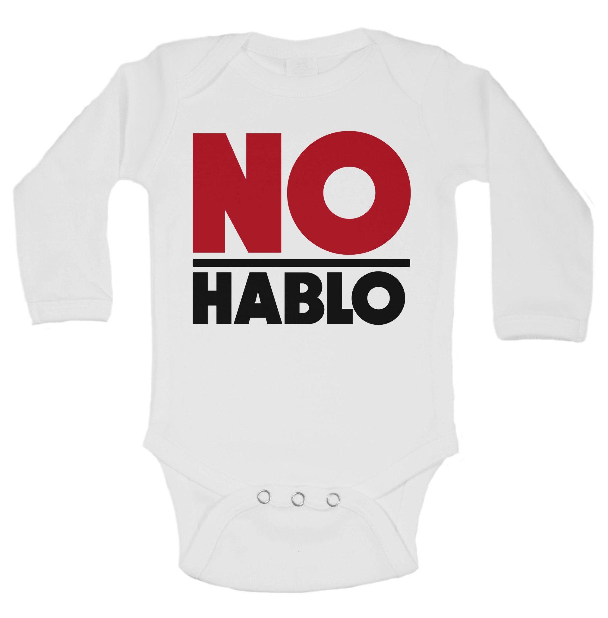 No Hablo Funny Kids Onesie