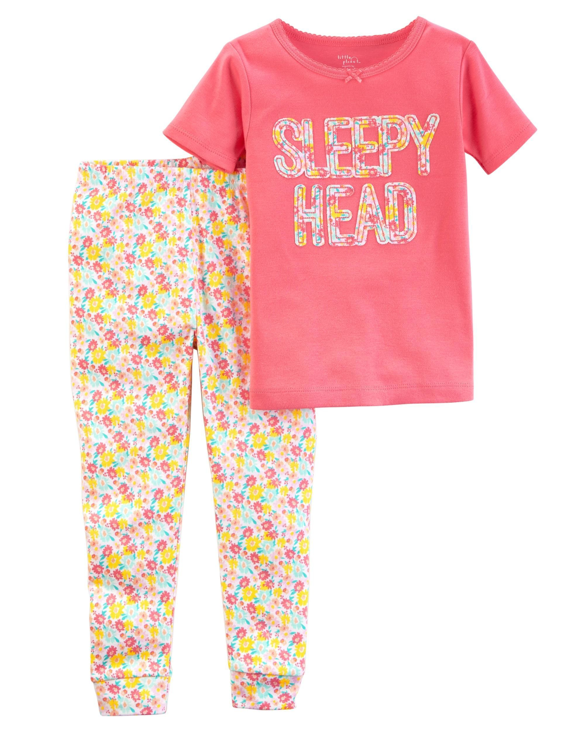 77d77fa76 2-Piece Certified Organic Snug Fit Cotton PJs