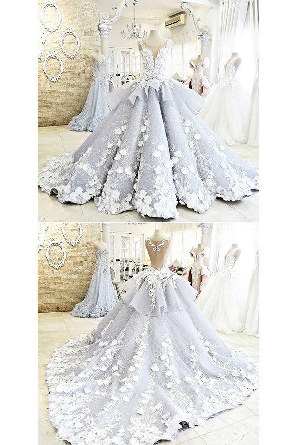 Light Blue Quinceanera Dress Ball Gown Flowers Evening ...