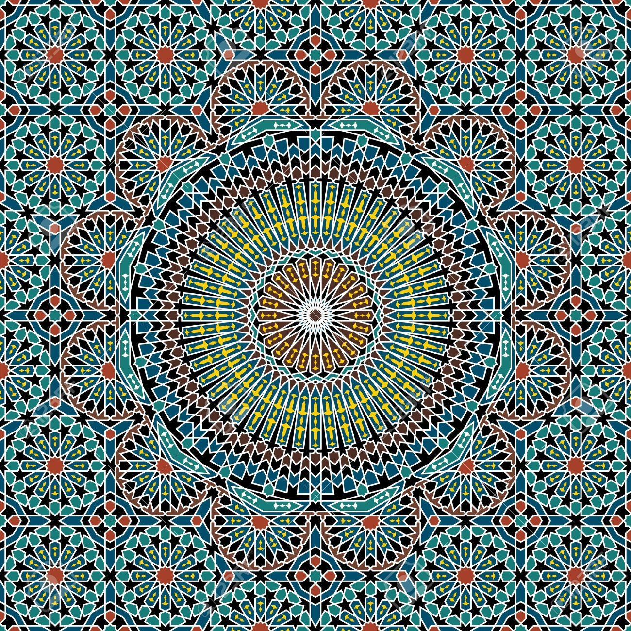 Traditional Morocco Pattern Royalty Free Cliparts, Vectors