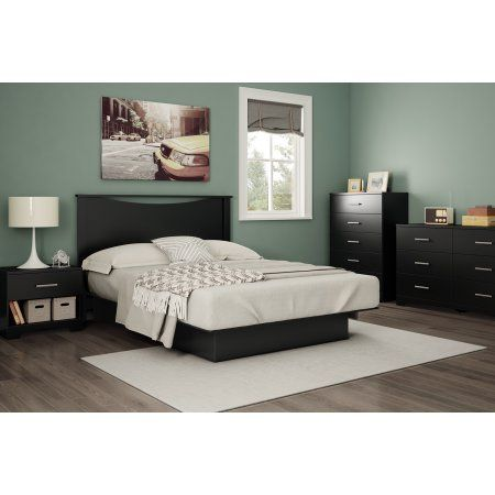 South Shore Gramercy Master Bedroom 5-piece Value Bundle, Multiple Finishes, Black