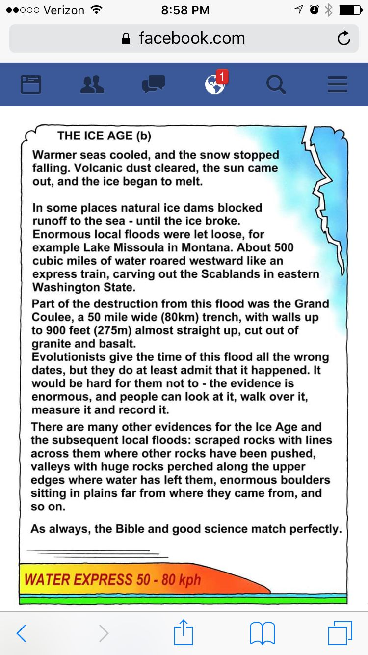 The Ice Age Only One Wa Resulted By Flood Education Humor Matter Science Uplifting Quotes Paraphrase Meaning Origin