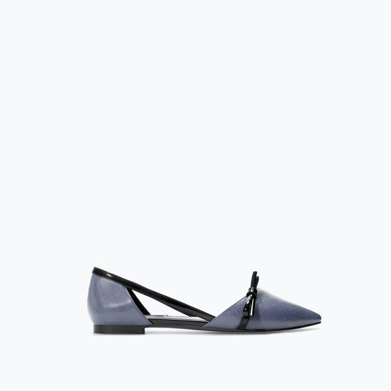ZARA - SHOES & BAGS - FLAT SHOES WITH BOW