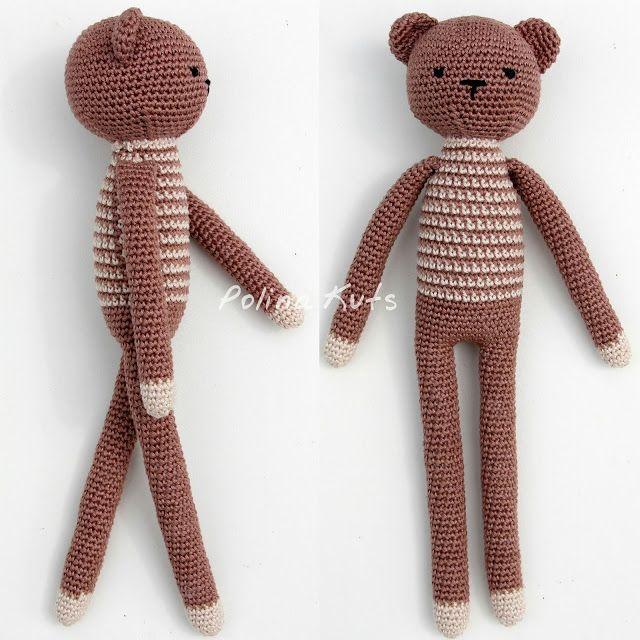 Polina Kuts: Free English Crochet Patterns: Rabbit, Bear, Fox, Wolf ...