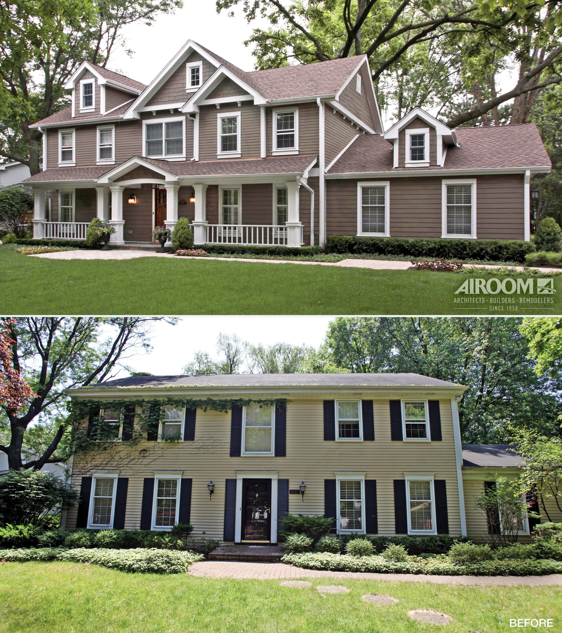 Before and after from so so to show stopping this for Redesign house exterior