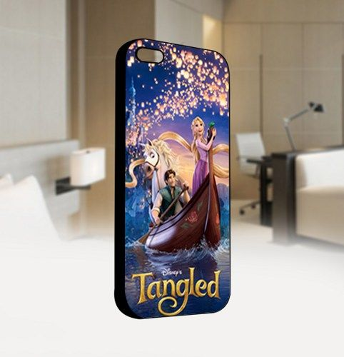 Disney Tangled - For IPhone 4 or 4S Black Case Cover