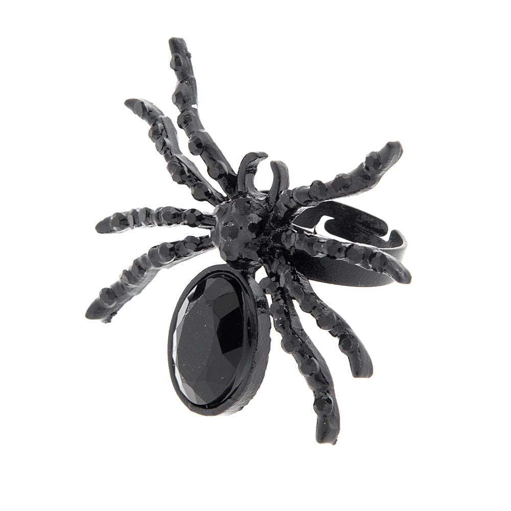 Halloween Large Crystal Spider Ring | Claire's