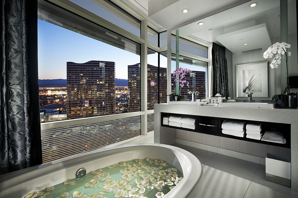 The 1 And 2 Bedroom Suites And Penthouses At Sky Suites Feature The Highest Floor Plans In Las