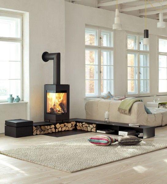 open haard hout opbergen 6 | Woonkamer / Livingroom | Pinterest