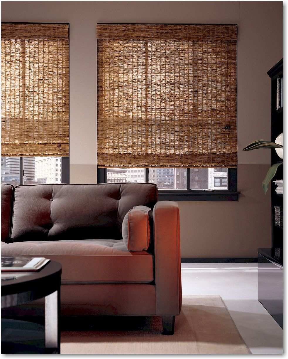 Hunter Douglas Provenance Woven Wood Shades For Front Door Window Allows Light But Adds Privacy