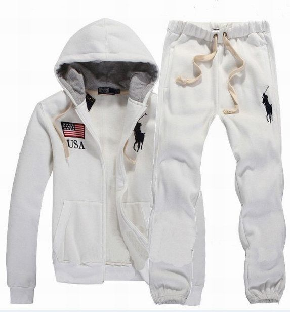 Polo Ralph Lauren Hombres USA Tracksuit Blanco