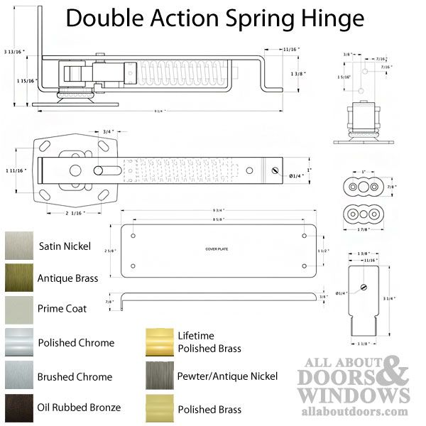 368001 Double Action Spring Hinge Floor Mount All About Doors And Windows Parts Hardware
