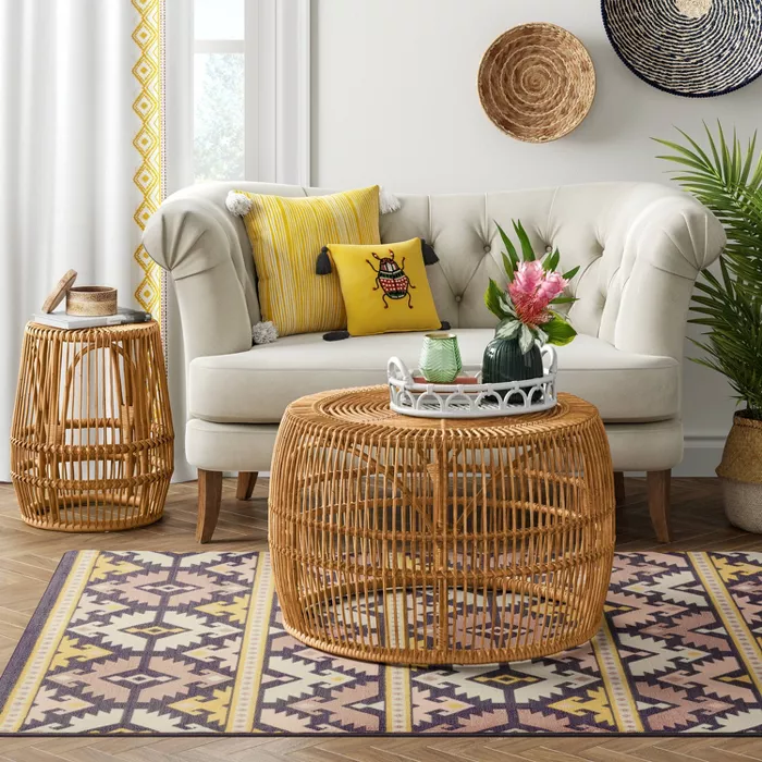 Pyronia Rattan Cage Coffee Table Natural Opalhouse In 2020 Table Decor Living Room Cage Coffee Table Cage Accent Table #target #living #room #table