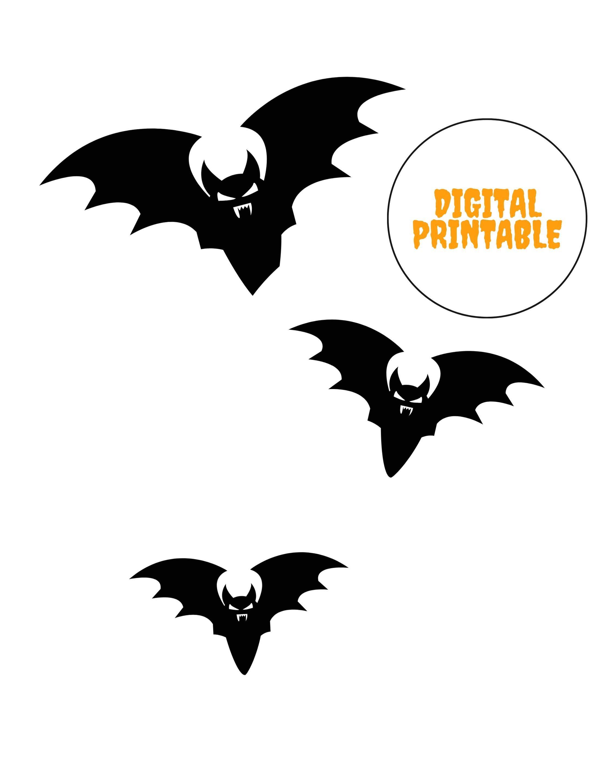 Halloween Instant Download Halloween Bat Printable Bat Etsy In 2020 Halloween Printables Free Printable Halloween Decorations Halloween Printable Templates
