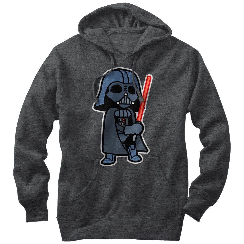 Star Wars Men S Darth Vader Cartoon Pull Over Hoodie Charcoal Heather S Hoodies Star Wars Men Star Wars Sweatshirt [ 1000 x 1000 Pixel ]