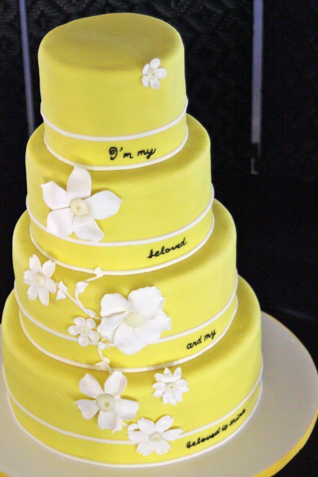 yellow tier | Yellow cake | Pinterest | Cake