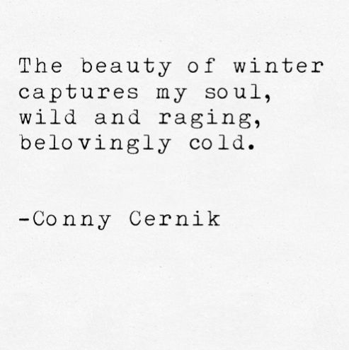Photo of Conny Cernik Poetry winter snow christmas