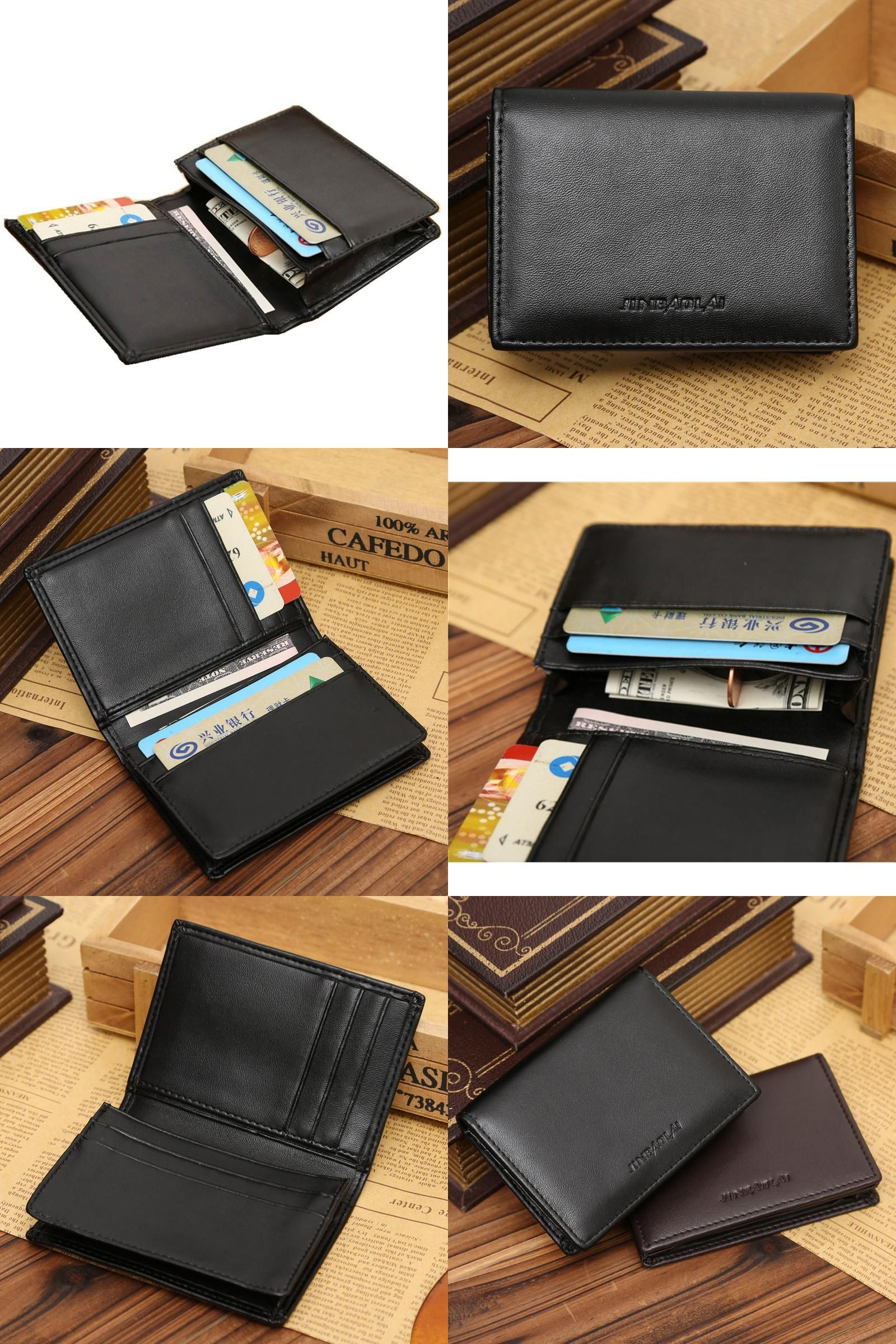 6cba0fb343ac [Visit to Buy] Mini Men's Wallet Small Coin Purses Credit Card Holder Card  bag Multifunction male student wallet Soft PU leather bank card pack # ...