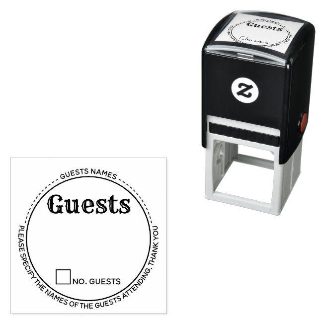 Guests names rsvp attendance round modern chic self-inking stamp #Sponsored , #spon, #modern#attendance#inking#chic